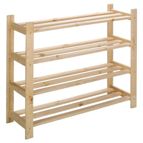 tesco shoe storage tesco solid pine 3 shelf shoe rack 05905919016911