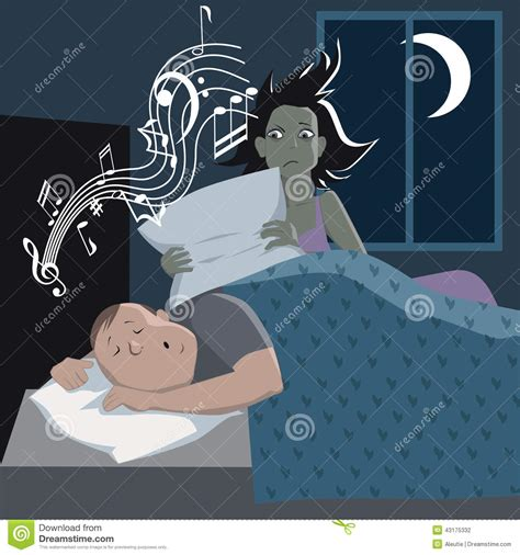 problem with snoring stock vector image 43175332
