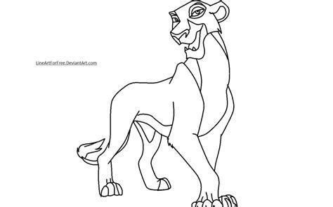 lion king base 17 zira by lineartforfree on deviantart