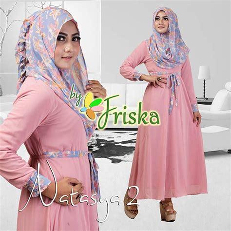 Busana Pesta Muslim Grosir Ammore Dress Furing natasya 2 by friska dusty pink baju muslim gamis modern