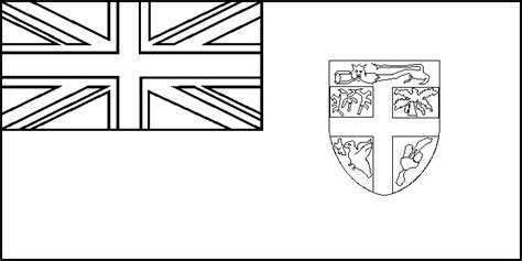 Fiji Flag Coloring Page Coloring Pages Fiji Flag Coloring Page