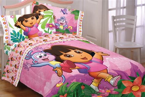 dora bed dora explorer run skip jump full double bedding set