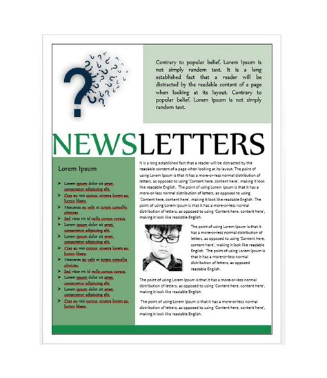 50 Free Newsletter Templates for Work, School and ... Office Templates Employee Information