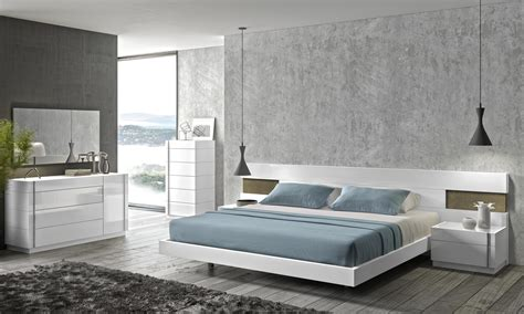 White Contemporary Bedroom Sets Amora Modern Platform Bed Cadomocdern