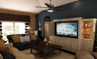 Nautical Living Room Paint Colors Blue Accents Nautical And Blue Accent Walls On