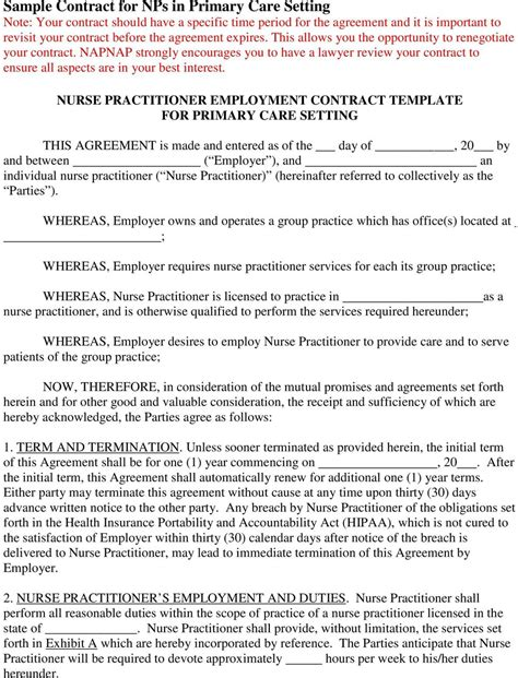practitioner contract template practitioner employment contract template for