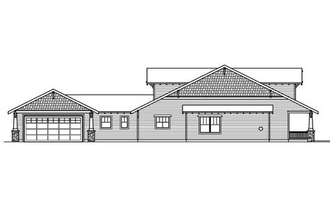 bungalow floor plan with elevation craftsman house plans fairfield 30 583 associated designs