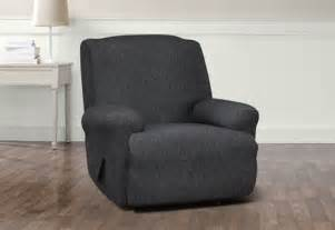 Oversized Recliner Cover Recliner Slipcover Sure Fit Stretch Denim Collection Black Ebay