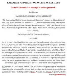 Easement Agreement Template easement template free printable documents