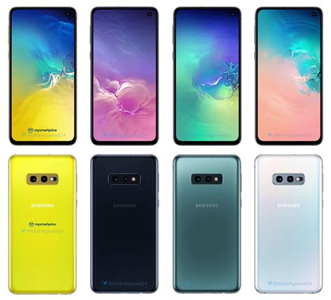 galaxy colors these are all the galaxy s10e galaxy s10 and galaxy s10