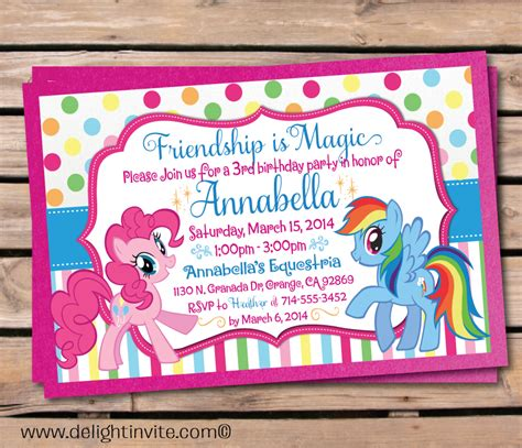 printable birthday invitations my little pony updated free printable my little pony birthday