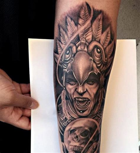 aztec sleeve tattoo designs 80 aztec tattoos for ancient tribal and warrior designs