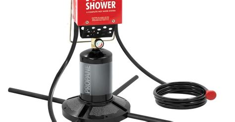 zodi outdoor shower zodi outback gear and black portable instant tap