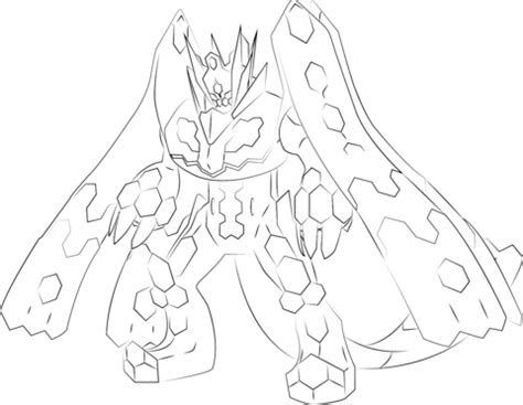 pokemon coloring pages zygarde zygarde in 100 percent form coloring page free printable