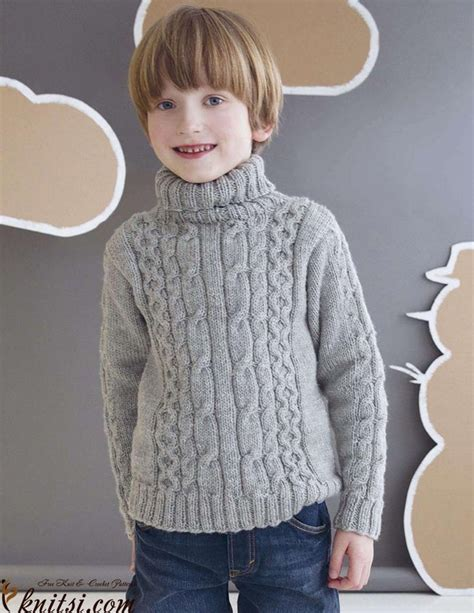 pattern for knitted roll neck sweater boys roll neck sweater knitting pattern