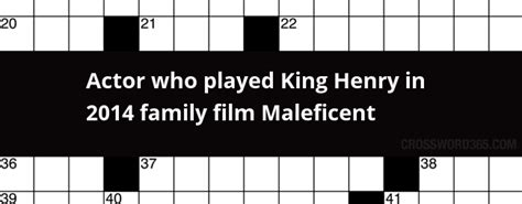 actor who plays aquaman crossword clue actor who played king henry in 2014 family film maleficent
