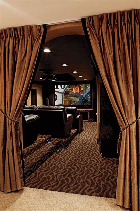 home theater curtain ideas mile high diy home theater home theater pinterest