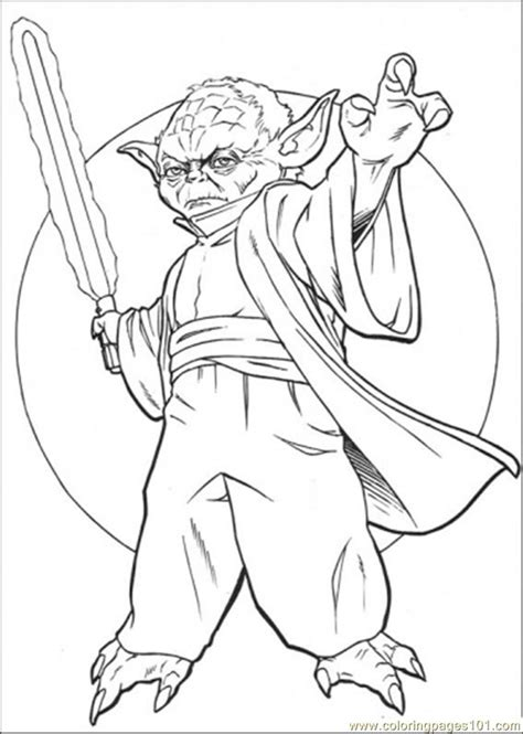 Color Pages Wars birds yoda coloring pages