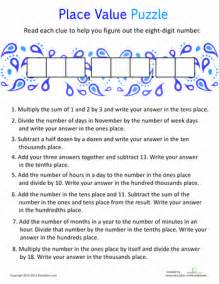 place value practice worksheets math and