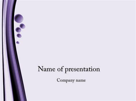 free violet bubbles powerpoint template for
