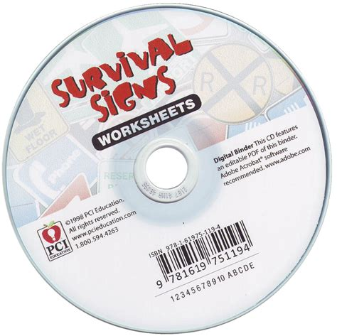 Survival Signs Worksheets by Cd School Specialty Marketplace