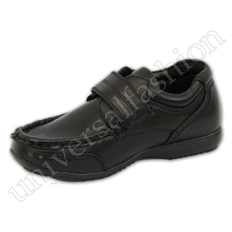boys school shoes toddlers leather look trainers
