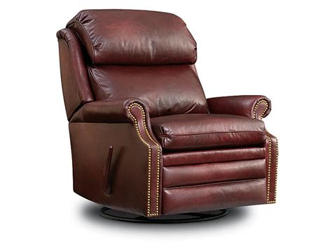 Leather Swivel Recliner Rocker by 403 Bench Leathercraft Furniture