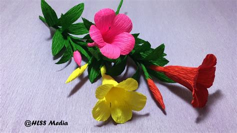 How To Make Crepe Paper Flowers Step By Step - how to make an origami allamanda paper flower diy crepe