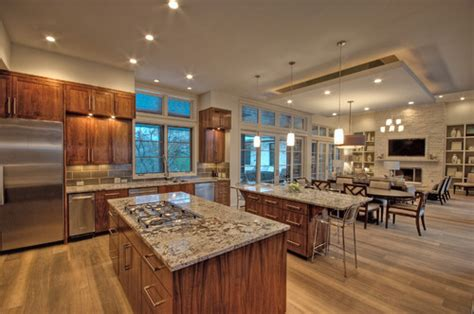 Kitchen Dining Room Combo Houzz Kitchen Dining Living Room Combo