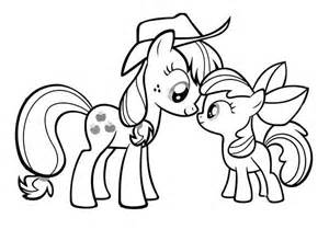 applejack coloring page my pony applejack and apple bloom coloring page