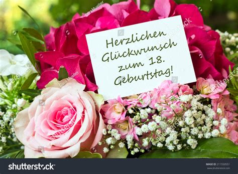 Wedding Congratulations In German by German Birthday Card With Pink Flowers Congratulation On