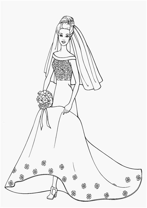 coloring pages of princess barbie free printable barbie coloring pages for kids