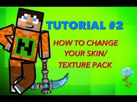 How To Change Your Skin Texture Pack On The Minecarft | tutorial 2 change your minecraft pe skin texture pack