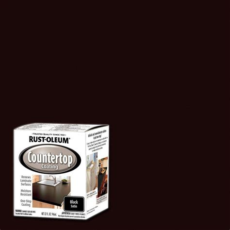 Rust Oleum Countertop Coating by Rust Oleum Specialty 1 Qt Black Satin Countertop Interior