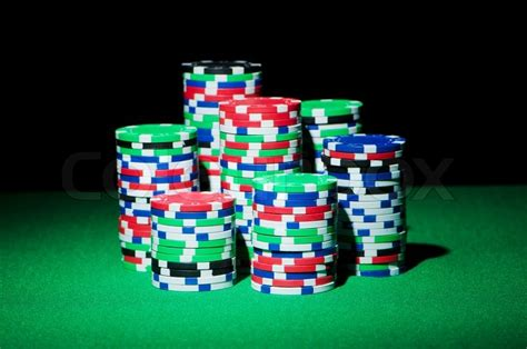 stack up the chips the poker room is open at maryland stack of casion chips on table stock photo colourbox