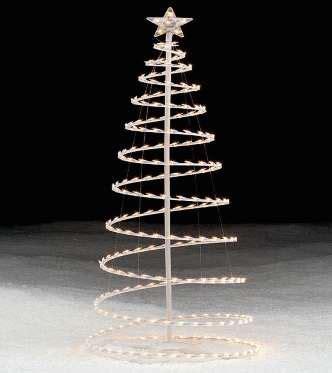 193 rbol de navidad de espiral hecho con luces 34 en sears