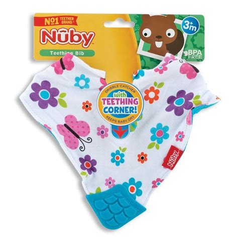 Nuby Bandana Bib With Teether nuby bandana bib with teether kelli s