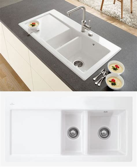 Ceramic Kitchen Sinks 1 5 Bowl Villeroy Boch Subway 60 1 5 Bowl Ceramic Sink Ceramic Line Kitchen Pinterest Sinks