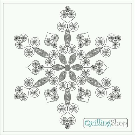 quilling template snowflakes pattern quilling and paper flower tutorials
