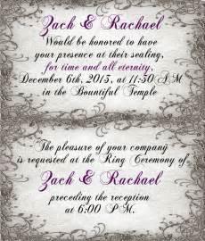 Wedding Announcement Wording Lds by Wedding Announcement Ceremony Cards Lds Temple Ceremony