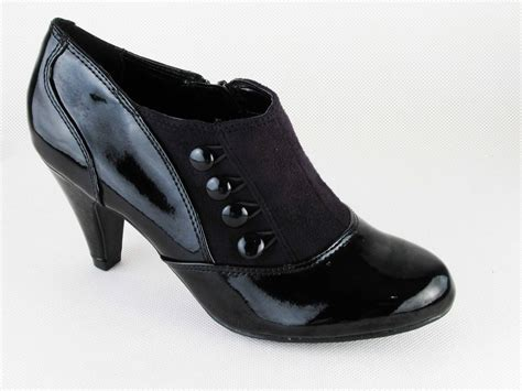 black patent trouser shoes by lotus size 4 5 6 7 8