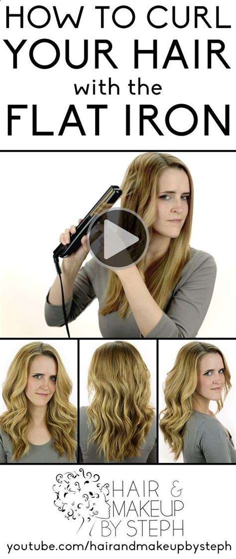 how to curl hair with straighteners flicks pin by eula becker on fun hair pinterest