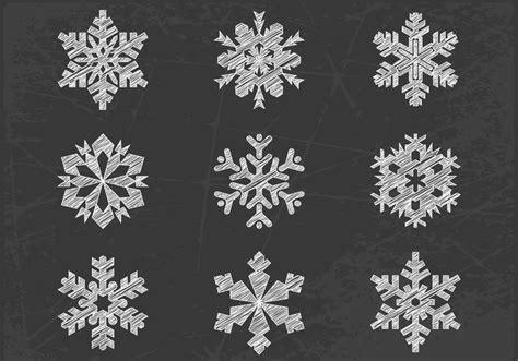 snowflake pattern brush photoshop chalk drawn snowflake brushes and psd pack free