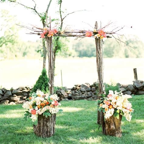 Wedding Arch Branches by Simple Ceremony Arch Made Of Tree Branches And Fresh