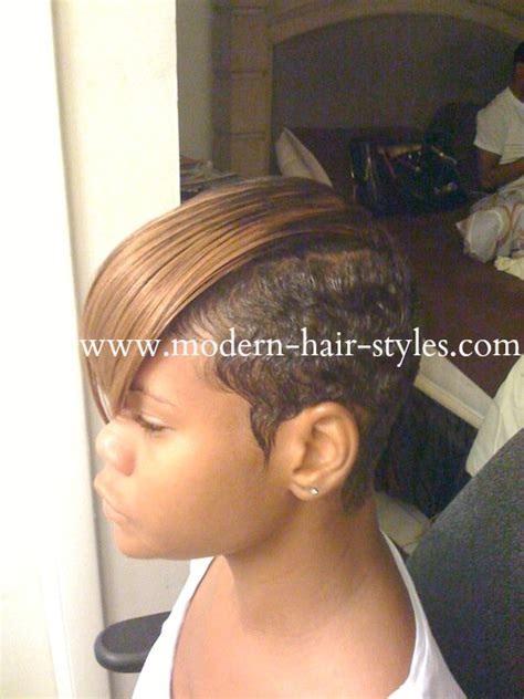 shaved sides hairstyles women with weave black short hairstyles pixies quick weaves texturizers