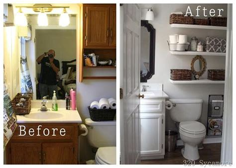 Redo Old Kitchen Cabinets by Small Bathroom Makeover Ideas On A Budget