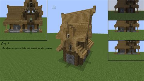 minecraft house roof designs minecraft medieval house tutorial minecraft pinterest roof design and tutorials