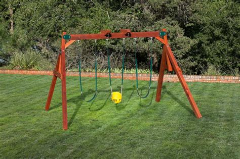 compact swing set the perfect wooden swing sets for small