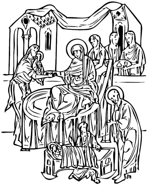 nativity icon coloring page nativity figures coloring pages coloring pages