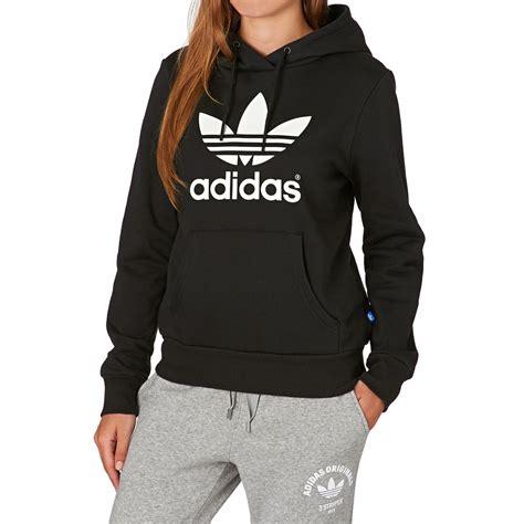 Adidas Hoodie adidas originals trefoil logo hoody black